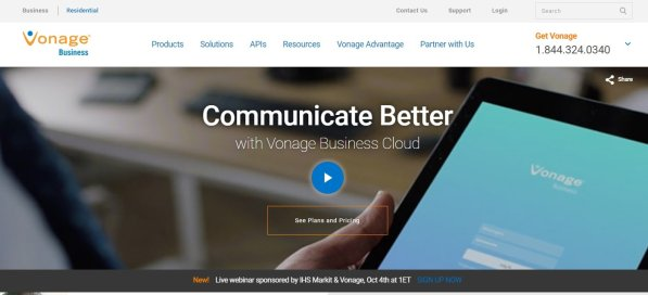 Vonage-Business-Homepage