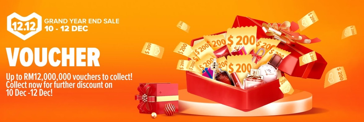 Grab Lazada Vouchers – For Grand Year End Mega Sales [12.12]